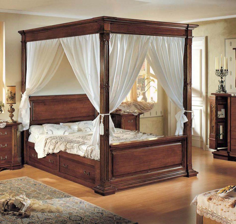 klasik tarz yatak odası mobilyaları