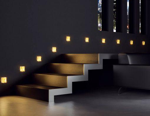 Merdivenlerde aydınlatma tasarımları