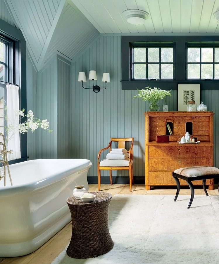 Vintage banyo dekorasyonu